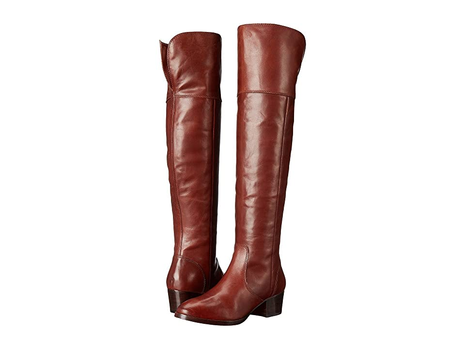 Frye Clara Over-The-Knee (Redwood Smooth Vintage Leather) Women