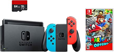 Amazon Com Super Mario Odyssey Switch Bundle
