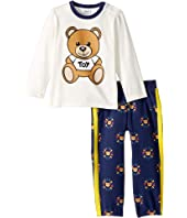 Moschino Kids - Teddy Bear Logo T-Shirt & Pants Set (Infant/Toddler)