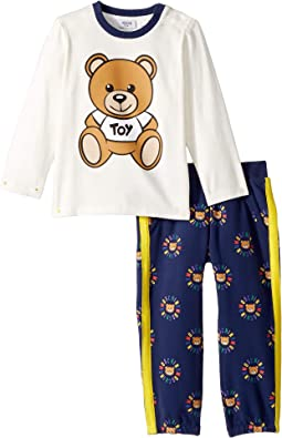 Teddy Bear Logo T-Shirt & Pants Set (Infant/Toddler)