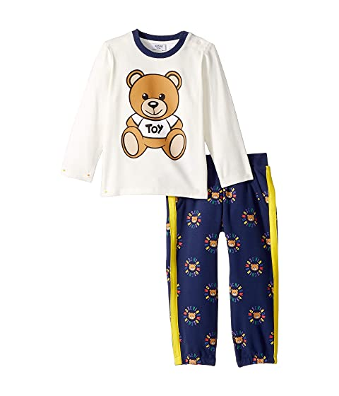 Moschino Kids Teddy Bear Logo T-Shirt & Pants Set (Infant/Toddler)