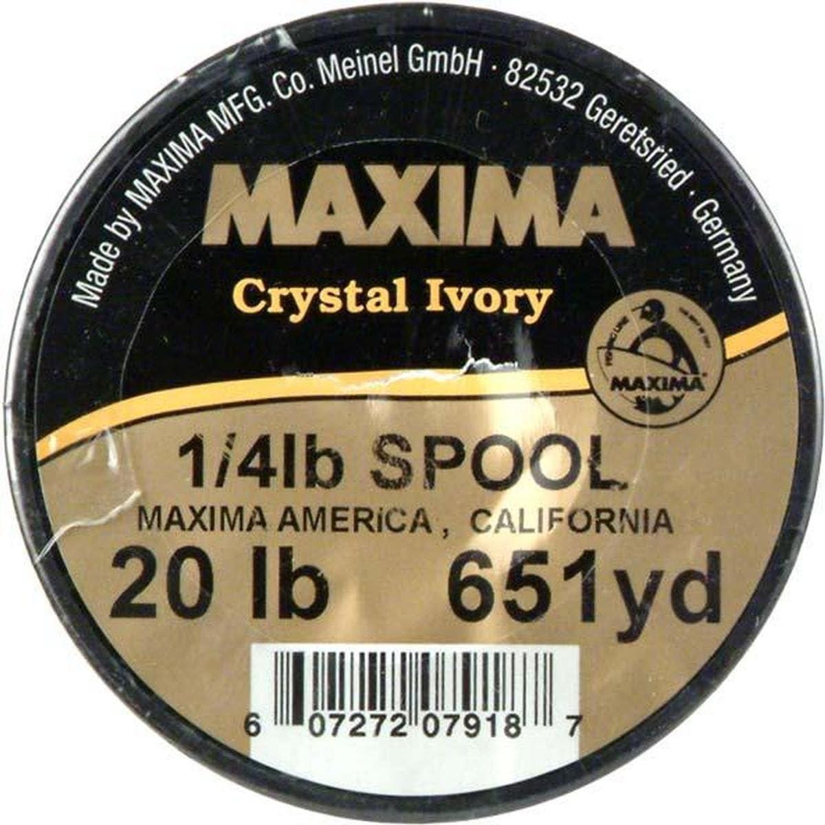 Maxima Crystal Ivory Monofilament Guide Spools Gold Monofilament Fishing Line