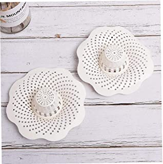 PiniceCore 2pcs Drain Hair Stopper Cover Filter Sink Strainer Silicone Bath Kitchen Shower Sink Anti-Clogging Floor Drain ...