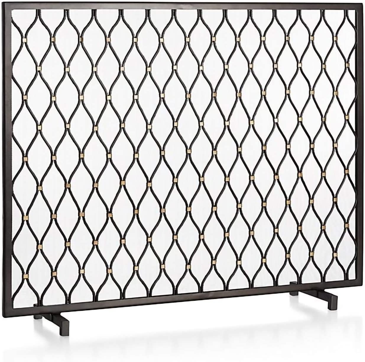 YYLL Max 46% OFF Wrought OFFicial mail order Iron Fireplace Panels Metal Fire 30 38.58