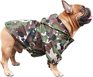 iChoue Dog Raincoat Lightweight Windbreaker Hooded Jacket