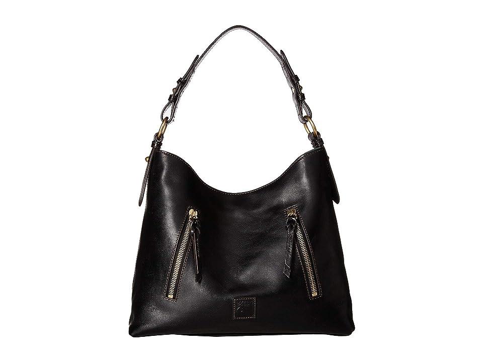 e7d990ba75c9b0 Image of Dooney & Bourke Florentine Cooper Hobo (Black/Black Trim) Hobo  Handbags