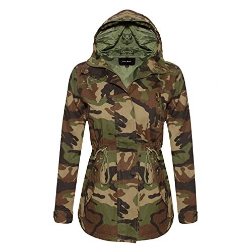 33a0174d2ee97 Instar Mode Women's Anorak Safari Hoodie Jacket up to Plus Size
