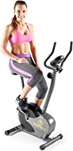 Marcy Magnetic Resistance Upright Exercise Bike with Eight Preset Resistance Levels for Cardio Workout and Strength Training NS-714U