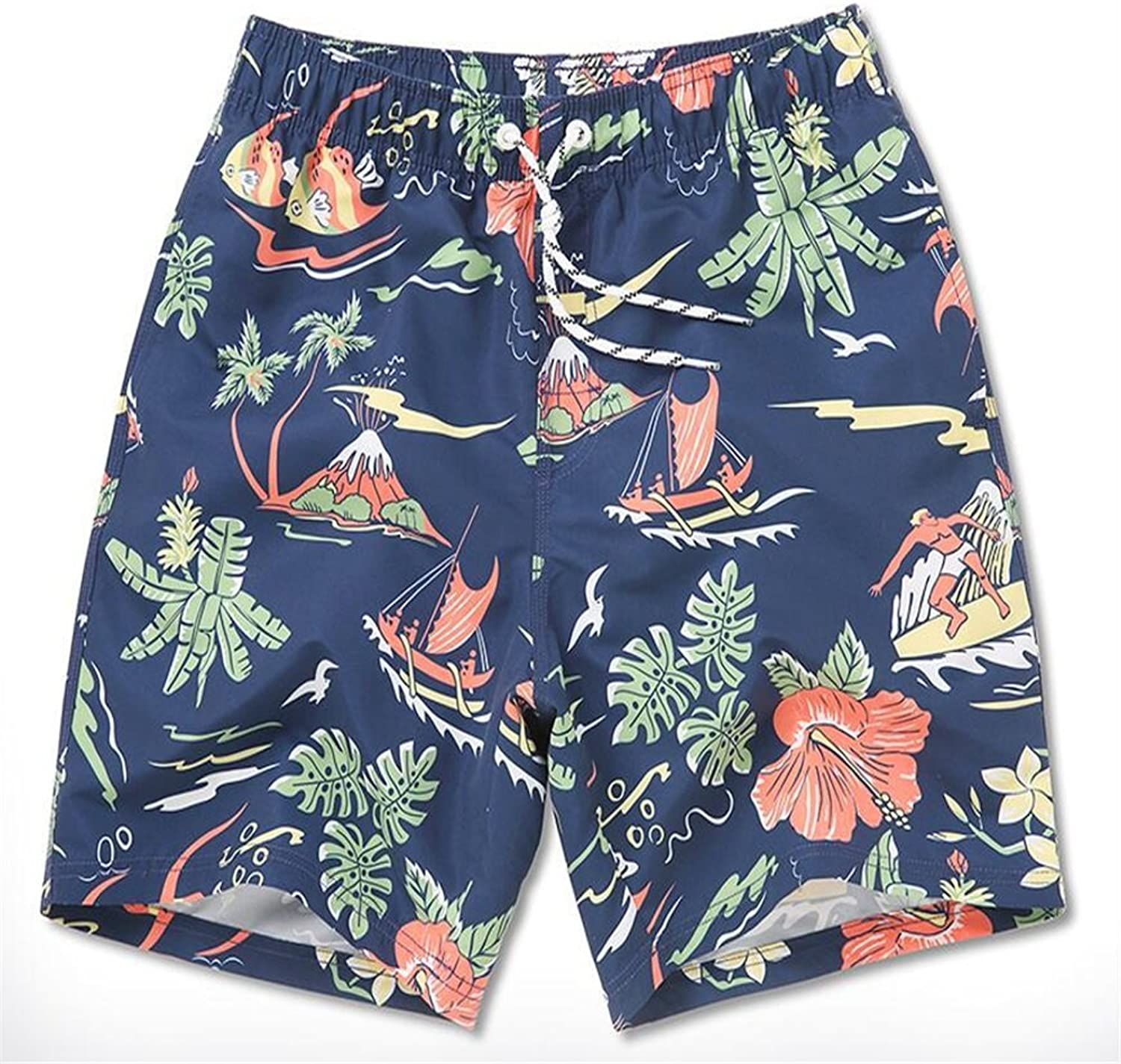 4915a9763f Men's Swim Trunks Board Shorts Mens Leisure Sports Lightweight Breathable  Breathable Breathable Beach Pants Quick-Drying Men's Surf Pants Summer  Seaside ...