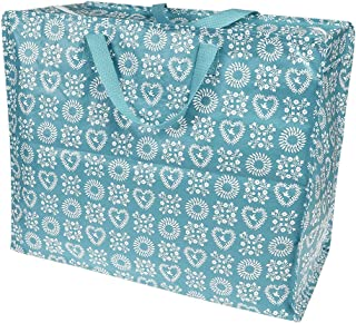 LS-LebenStil XXL Jumbo Bag Friendship Herz Blume 55cm Recycled Allzwecktasche Einkaufstasche