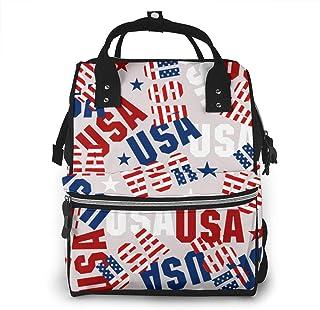 Luiertas Rugzak, JOJOshop USA Vlag Symbolen Grote Multifunctionele Reis Rugpakket, Grote Capaciteit, Waterdicht en Stijlvol