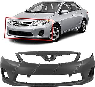 MBI AUTO - Primered, Front Bumper Cover Fascia for 2011 2012 2013 Toyota Corolla Sedan 11 12 13, TO1000372