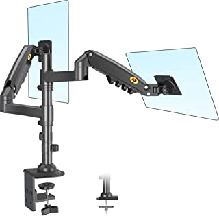 NB North Bayou Dual Monitor Arm Monitor Stand Desk Mount Height Adjustable VESA Bracket for 17 to 27 Inch Computer Screen ...