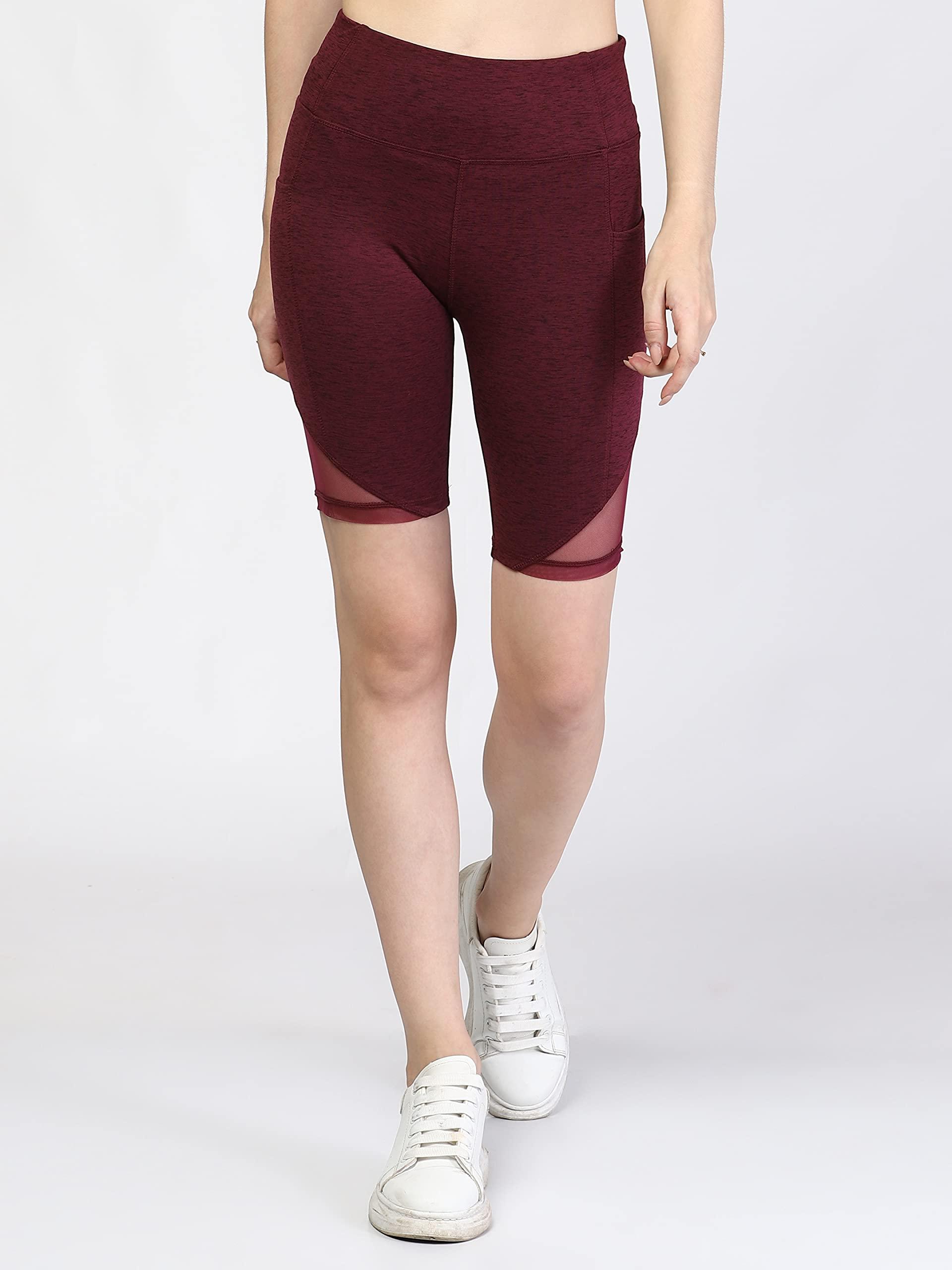 The Dance Bible Women High Waist Stylish Cycling Shorts with Pocket