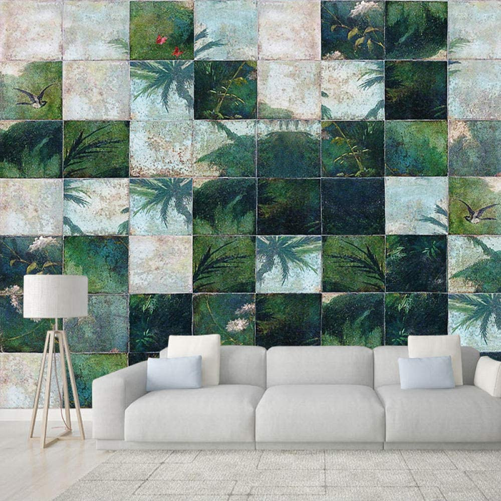 3D Custom Silk Wallpaper shopping Philadelphia Mall Creative Personality Leaf Green Kitchen