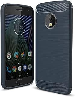 Moto G5 Plus Case, Landee Soft Silicon Resilient Shock Absorption and Carbon Fiber Design Protective Case for Motorola Moto G5 Plus (5.2
