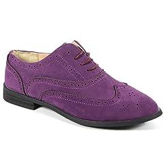 445b174b842 Bucco Oxee Womens Fashion Vegan Leather Oxford Shoes