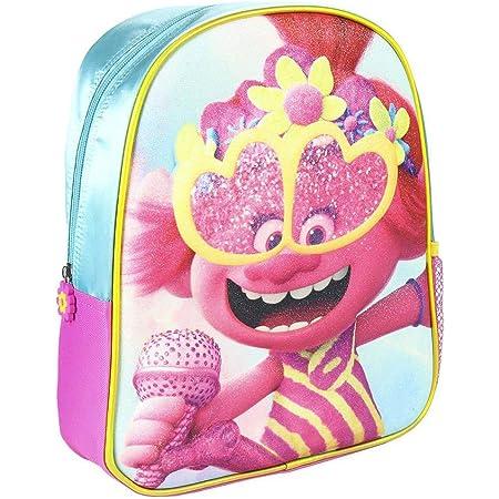 Cerdá, Mochila Infantil Trolls 3D con Purpurina-Licencia Oficial Dreamworks Studios Unisex niños, Multicolor, 260X310X100MM