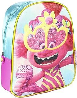 Mochila Infantil Trolls 3D con Purpurina-Licencia Oficial Dreamworks Studios Unisex niños, Multicolor, 260X310X100MM