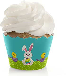 Hippity Hoppity - Easter Bunny Party Decorations - Party Cupcake Wrappers - Set of 12