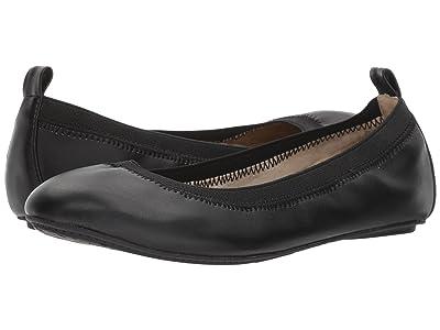 Yosi Samra Kids Miss Samara Nappa Ballet Flat (Toddler/Little Kid/Big Kid) (Black Nappa) Girls Shoes