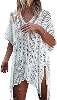 Women¡¯s Bathing Suit Cover Up Beach Bikini Swimsuit Swimwear Crochet Dress