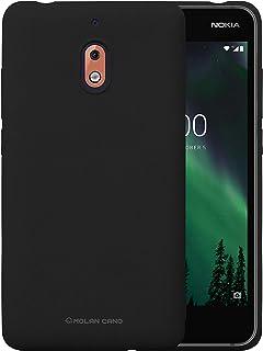 Nokia 2.1 Molan Cano Flexible Matte Silicone Soft Back Case - Black