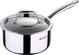Bergner Triply Argent Stainless Steel Saucepan with Lid (1.6 ltr)