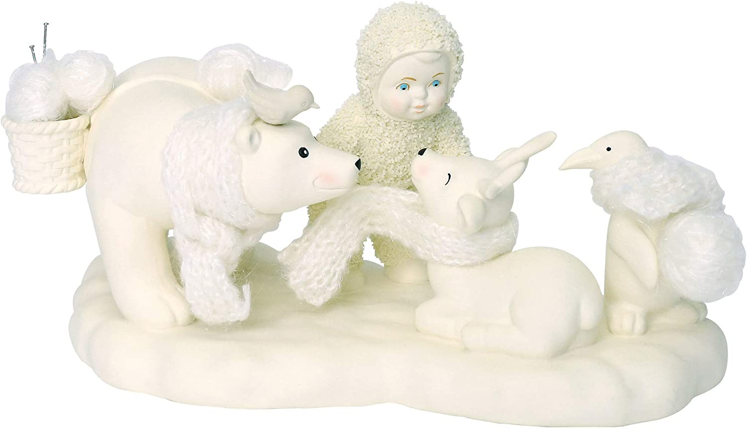 """Department 56 Snowbabies Peace Collection """"Wrapped in Warmth"""" Porcelain Figurine, 3.75"""""""