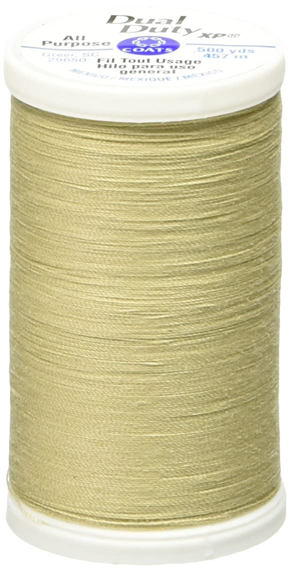Coats Thread & Zippers Dual Duty XP General Purpose Thread, 500-Yard, Beige