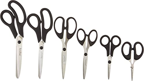 2021 Cook new arrival Pro 808 6 Piece All Purpose outlet online sale Scissors, Stainless Steel/Black outlet sale