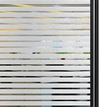 Qualsen Vinilo Cristal Ventana No Se Adhiere Vinilo Ventana Privacidad Decorativas Rayas Esmeriladas Vinilos para Ventanas la Oficina Salón Cocina (90 x 200 cm)