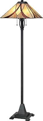 Quoizel TFAS9360VA 2-Light Asheville Floor Lamp in Valiant Bronze