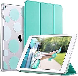 ULAK Funda para iPad 9.7 Pulgada 2018/2017, iPad 5ª/6ª Carcasa Función de Despertador Automático Magnético y Sueño Smart Cubierta Trifold Soporte Caso para Apple iPad 9,7 Pulgada 2017/2018 - Menta