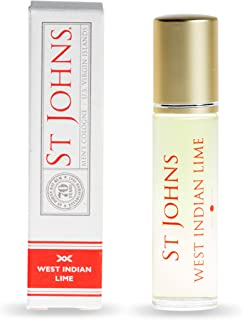 West Indian Lime Cologne for Men by St Johns. Fresh Citrus Lime Cologne in Travel Size Roll On 10ML. Handcrafted in U.S.V.I. Great Guys Gift, Sampler/Sample Size, Tester. Best Smelling Cologne.