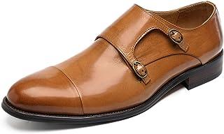 Zapatos de vestir formal hombres,Zapatos doble hebilla Monk Zapatos de cuero de los holgazanes de negocios Caminar trabajo...