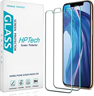 2-Pack HPTech Tempered Glass for iPhone 11 Pro Max and iPhone Xs Max [6.5-inch] Screen Protector, Easy to Install, Bubble ...