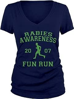 Junior's The Office Rabies Awareness Fun Run 2007 V-Neck T-Shirt
