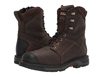 Ariat 8 WorkHog(r) XT Side Zip H2O Carbon Toe (Brown) Men