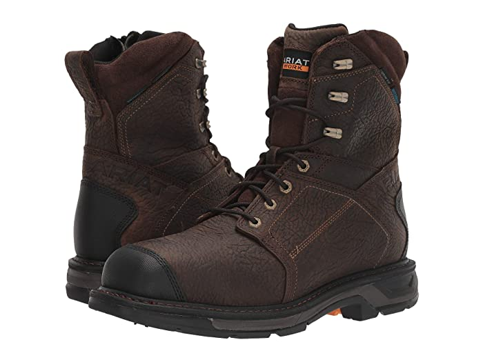 Ariat  8 WorkHog XT Side Zip H2O Carbon Toe (Brown) Mens Work Boots