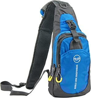 Free Bird 99 Shoulder Sling Chest Bag Running Hiking Cycling One Shoulder Travel Pack Backpack Bag for Men Women (Blue)