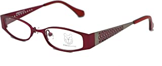 Pink Silver Childrens Designer Optical Glasses Frame Fashion - FB112