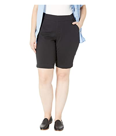 Jag Jeans Plus Size Plus Size Gracie Pull-On Bermuda Shorts (Black) Women