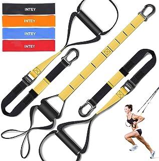 INTEY Entrenamiento en Suspensión, Bandas Elásticas Fitness, Mejora la Flexibilidad y el Equilibrio, Adecuado para Entrenamiento Muscular, Entrenamiento Central, Ejercicio Aeróbico