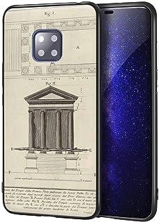 Giovanni Battista Piranesi Huawei Mate 20 Pro用ケース/ファインアート携帯電話ケース/高解像度ジクレーレベル複製プリント、携帯電話カバー(Plan そして Facade Of の Temple Of ...