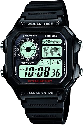 Casio Youth Series Digital Grey Dial Men's Watch - AE-1200WH-1AVDF(D097)