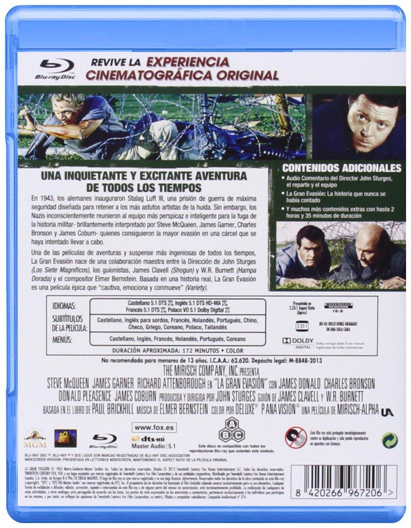 La Gran Evasion - Blu-Ray [Blu-ray]: Amazon.es: Steve McQueen ...