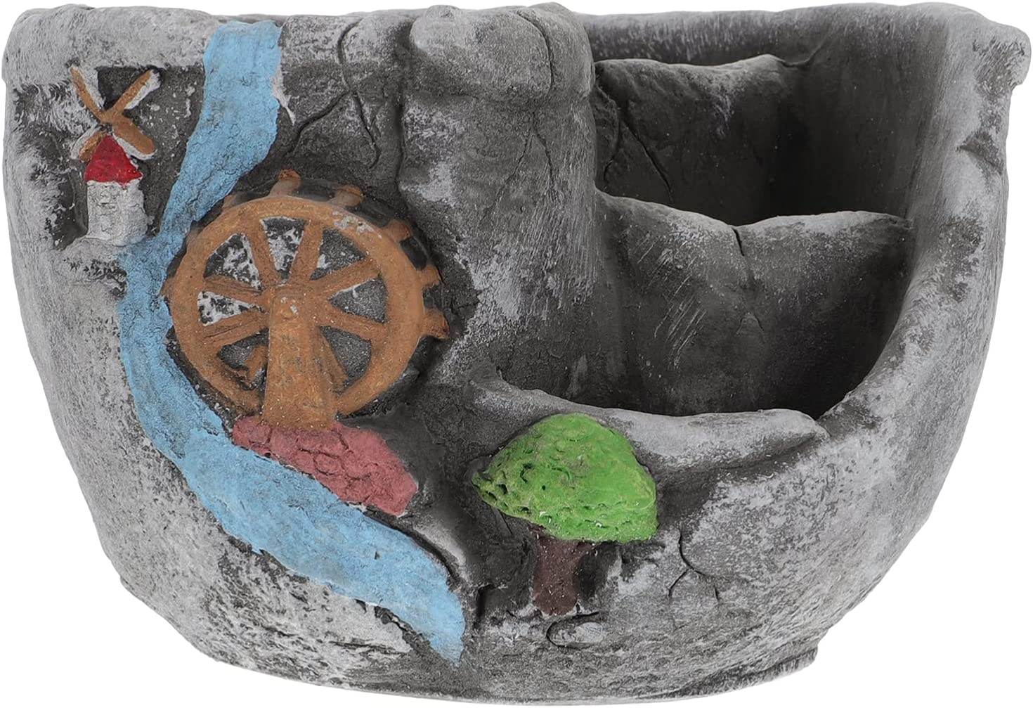 Happyyami Nautical Flower Pots Sales results No. 1 Ceramic Special Campaign S Wheel Lighthouse Design