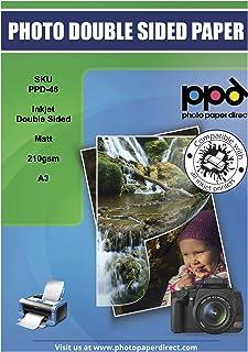 PPD Papel fotográfico con acabado mate (doble cara) para impresión con inyección de tinta 210 g/m² A3 X 20 hojas PPD-46-20