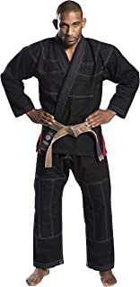 Ronin Plain BJJ Gi - Professional Brazilian Jiu Jitsu Uniform - Light 100% Quality Pre Shrunk Cotton - 420 GSM Pearl Wave Material for Men & Women